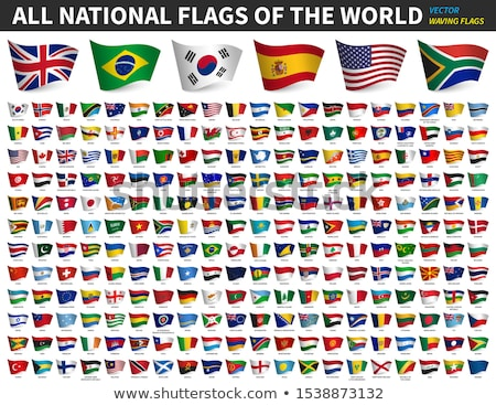 national flags of the countries vector illustration on white background stock photo © butenkow