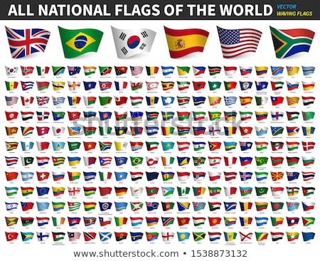 Stockfoto: Vlaggen · landen · witte · wereld · reizen · afrika