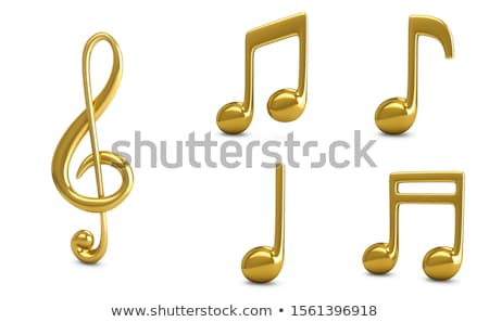 Background design with golden musical notes Stock photo © colematt