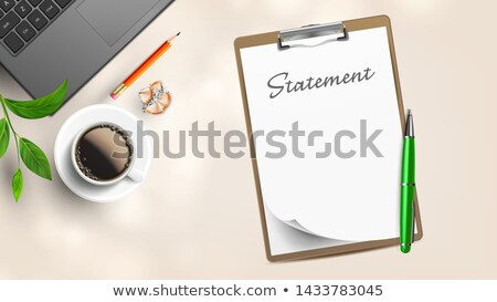 Blank Statement On Workplace With Supplies Vector Stock photo © pikepicture