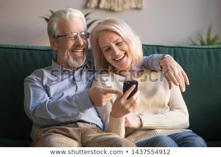 Derűs érett férj feleség videó chat Stock fotó © pressmaster