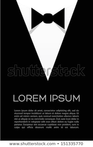 Сток-фото: Tuxedo White Shirt And Black Bow Tie