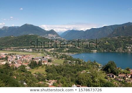 Monte Bre moutain, Lugano Stock photo © borisb17
