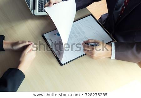 sollicitatiegesprek · jonge · aantrekkelijk · man · lezing - stockfoto © Freedomz