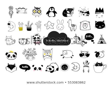 スケッチ かわいい 動物 キツネ いたずら書き スタイル ストックフォト © Arkadivna