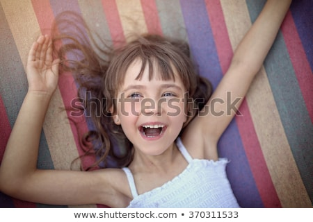 Little girl chilling out in hammock Stock photo © Anna_Om