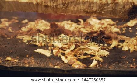 Kebab vlees detail hot lam Stockfoto © boggy