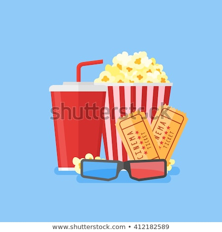 Package of Popcorn Snack and Cinema Tickets Vector Stock photo © robuart