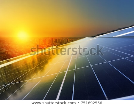 Solar power with solar cell on rooftop Stock photo © bluering