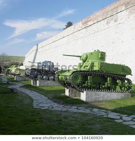 military technique, fortress Kalemegdan, Belgrade, Serbia Stock photo © phbcz