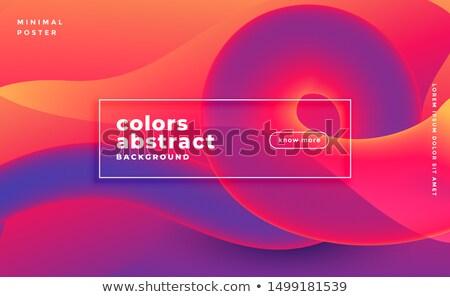 Abstract colorato cappio banner design web Foto d'archivio © SArts