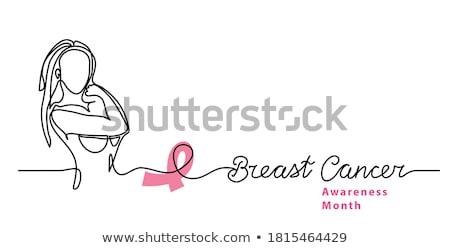 borstkanker · bewustzijn · abstract · roze · kaart · ingesteld - stockfoto © sarts