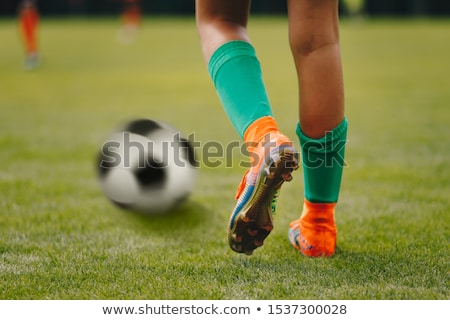 Piłka nożna stałego piłka gotowy kopać Zdjęcia stock © matimix