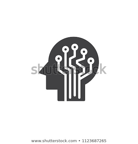 Artificial Intelligence Solid Web Icons Stock photo © Anna_leni