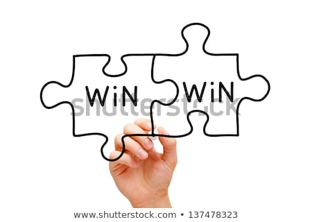 Win-Win Jigsaw Puzzle Business Concept Stock photo © ivelin