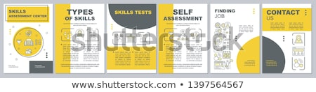 Ability Assessment Human Talent Icon Vector Illustration Stock photo © pikepicture