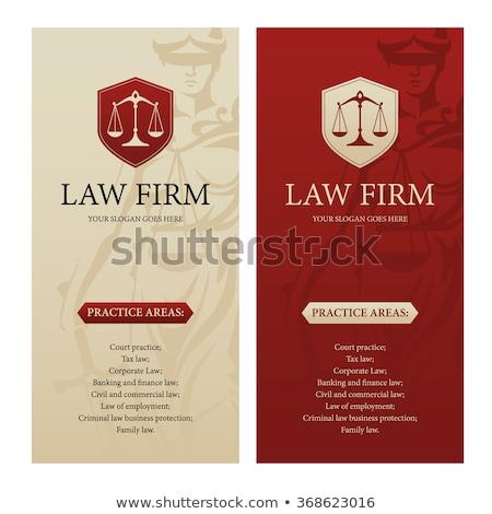 Droit ordre logo protection échelles Photo stock © -TAlex-