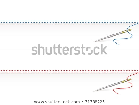 Eye stitched frame illustration Stock photo © barsrsind