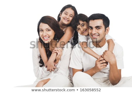 Six young woman in studio white background Stock photo © Lopolo