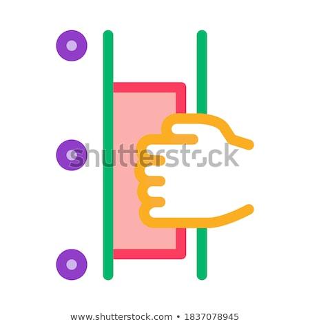 Hand deur icon vector schets Stockfoto © pikepicture