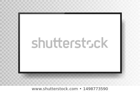 Realista preto televisão tela transparente Foto stock © olehsvetiukha