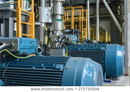 Electric Industrial generator inside power plant closeup Stock photo © Lopolo