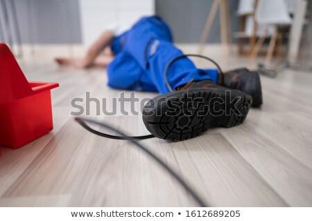 電気 脚 線 低い セクション 男性 ストックフォト © AndreyPopov