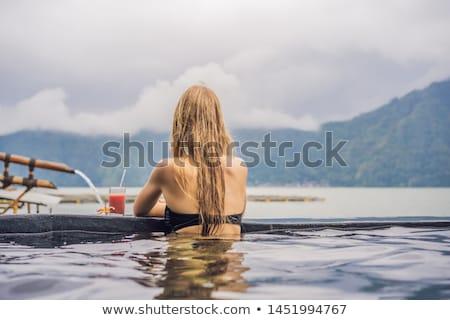 Spa женщину расслабляющая термальная ванна бассейна озеро Сток-фото © galitskaya