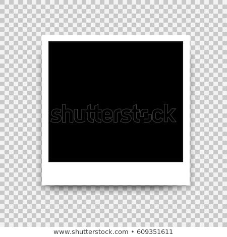 Retro photo frame sombras fundo quadro preto Foto stock © olehsvetiukha