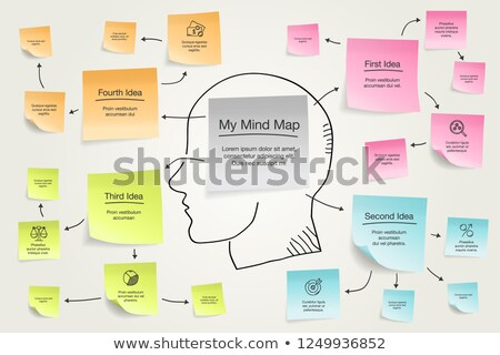 Human Hand With Mind Map Concept Stock photo © AndreyPopov