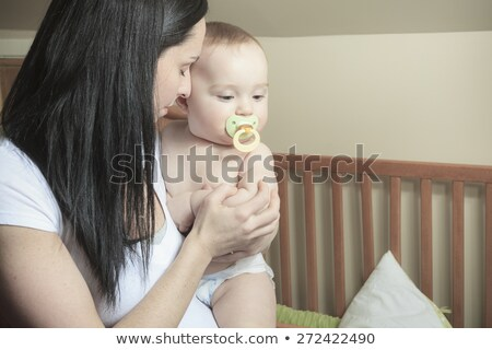 Devotado mãe filho para baixo Foto stock © Lopolo