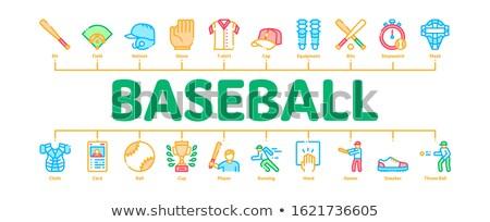Beysbol oyun araçları en az afiş Stok fotoğraf © pikepicture