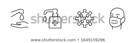 Kropla wody wirusa ikona wektora ilustracja Zdjęcia stock © pikepicture