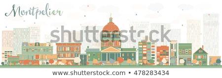 Absztrakt Vermont városkép szín épületek üzleti út Stock fotó © ShustrikS