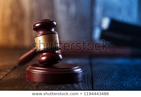 wooden gavel stock photo © ajn