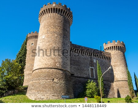 Ancient castle with towers of Rocca Pia in the center of Tivoli, Stock photo © Zhukow