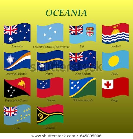 Oceanía polinesia bandera establecer banderas Foto stock © nazlisart