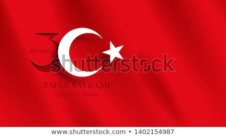 Türk bayraklar sokak İstanbul Türkiye Stok fotoğraf © boggy