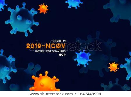 Coronavírus flutuante azul médico mundo saúde Foto stock © SArts