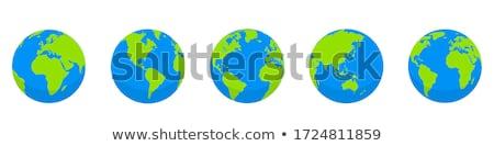 планете Земля набор икона иллюстрация веб баннер Сток-фото © Margolana