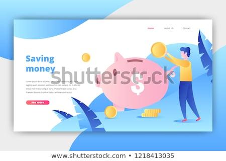 Inwestycje lądowanie strona starszy ludzi Zdjęcia stock © RAStudio