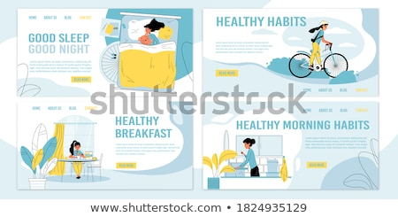 Bed and breakfast concept landing page Stock photo © RAStudio