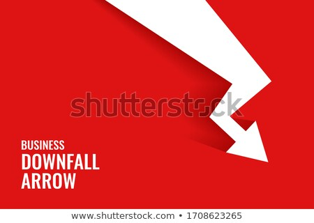 red business downfall arrow showing downward trend Stock photo © SArts