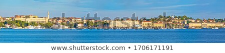 Pula. Panoramic view of town of Pula waterfront Stock photo © xbrchx