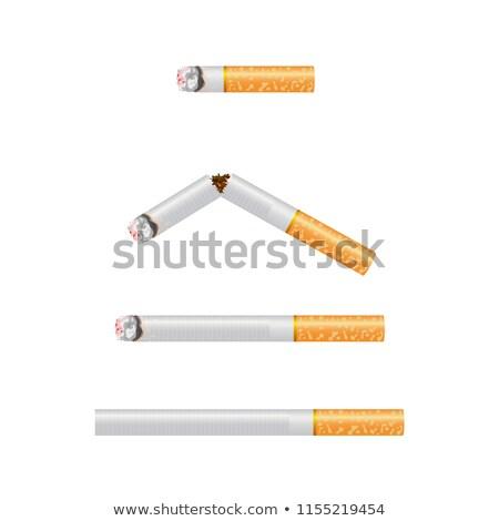 Broken realistic cigarette. Quit smoking conception illustration. Stock photo © evgeny89