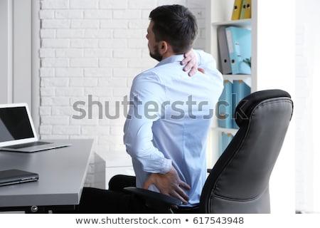 Dolor de cuello de trabajo ordenador mal mujer oficina Foto stock © AndreyPopov