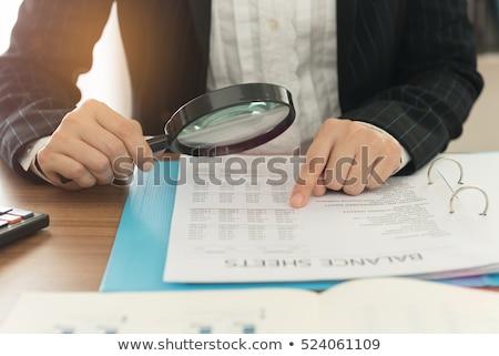 税 監査 虫眼鏡 文書 オフィス ストックフォト © AndreyPopov