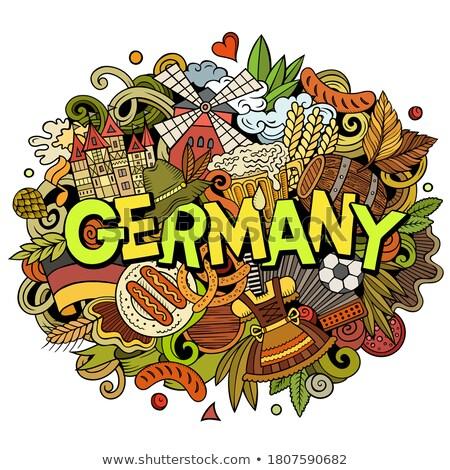 Almanya karikatür karalamalar örnek komik Stok fotoğraf © balabolka