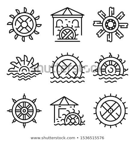water mill icon vector outline illustration Stock photo © pikepicture