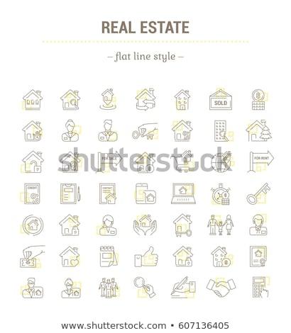 Pośrednik w sprzedaży nieruchomości sprzedawca ikona wektora Zdjęcia stock © pikepicture